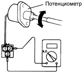 потенциометр используется для ручной регулировки качества топливной смеси
