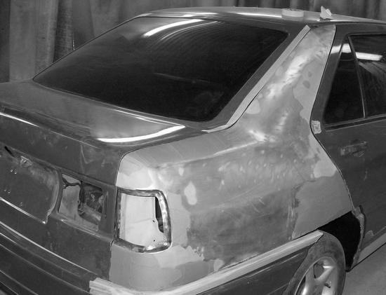 Шпатлевание автомобиля