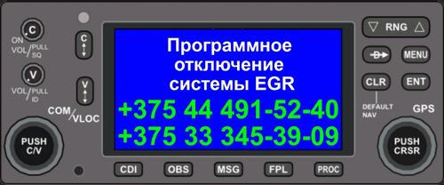 Egr - программное отключение и коррекция в Минске